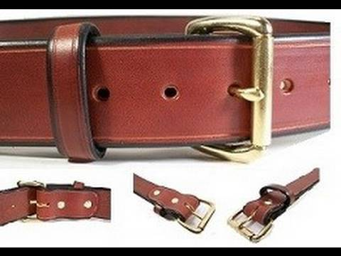 New Bull Leather Gun Belt's in Brown