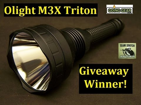 Olight M3X Triton Giveaway Winner