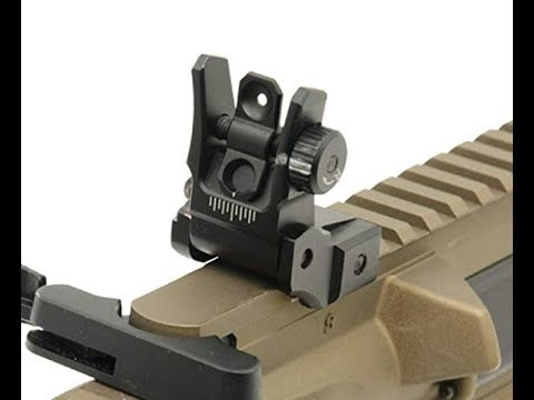 UTG Super Slim Flip Up Sights! Unboxing and basic overview.