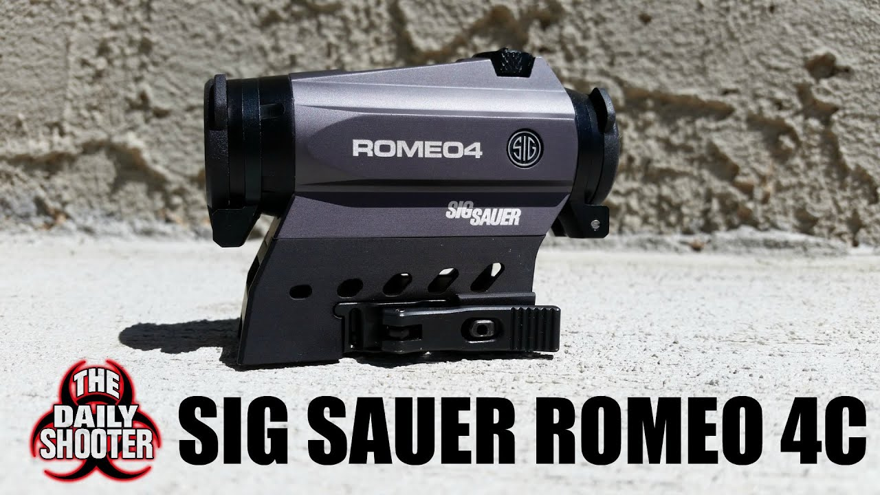 Sig Sauer Romeo 4C Solar Red Dot Optic Unboxing and First Impressions