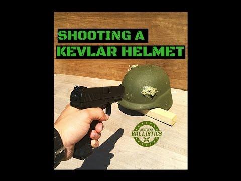 Shooting A Kevlar Helmet