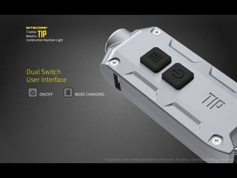 NiteCore TIP Keychain Light Review-360 Lumens!