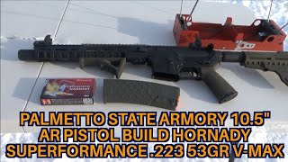 Hornady 53gr Superformance .223 Rem V-Max Palmetto State Armory 10.5