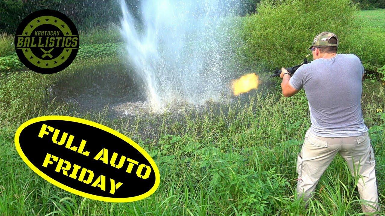 Full Auto AR-15 vs Pond (Full Auto Friday)