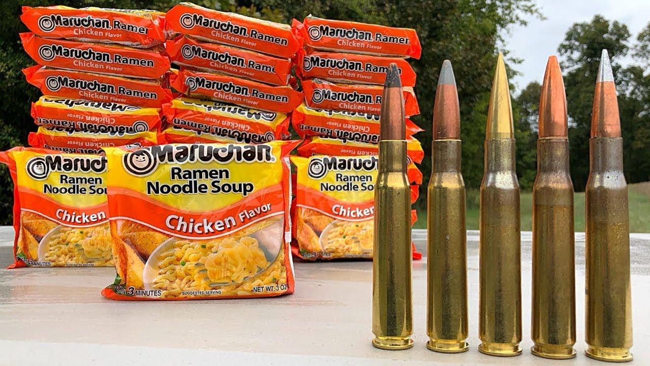 50 BMG vs Ramen Noodles