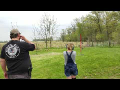 Daughter's First Shots With a Handgun and New Dueling Tree
