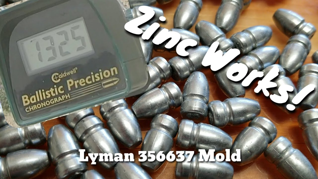 9mm in Zinc! - Velocity & Accuracy Test Lyman 356637 - Zinc bullets Work!