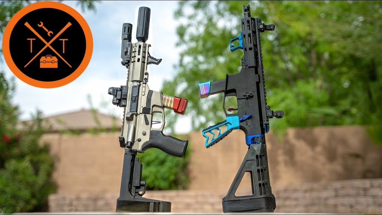 EPIC 9mm AR 15 Battle // CMMG Banshee Vs. Angstadt Arms (w/Links & Codes)