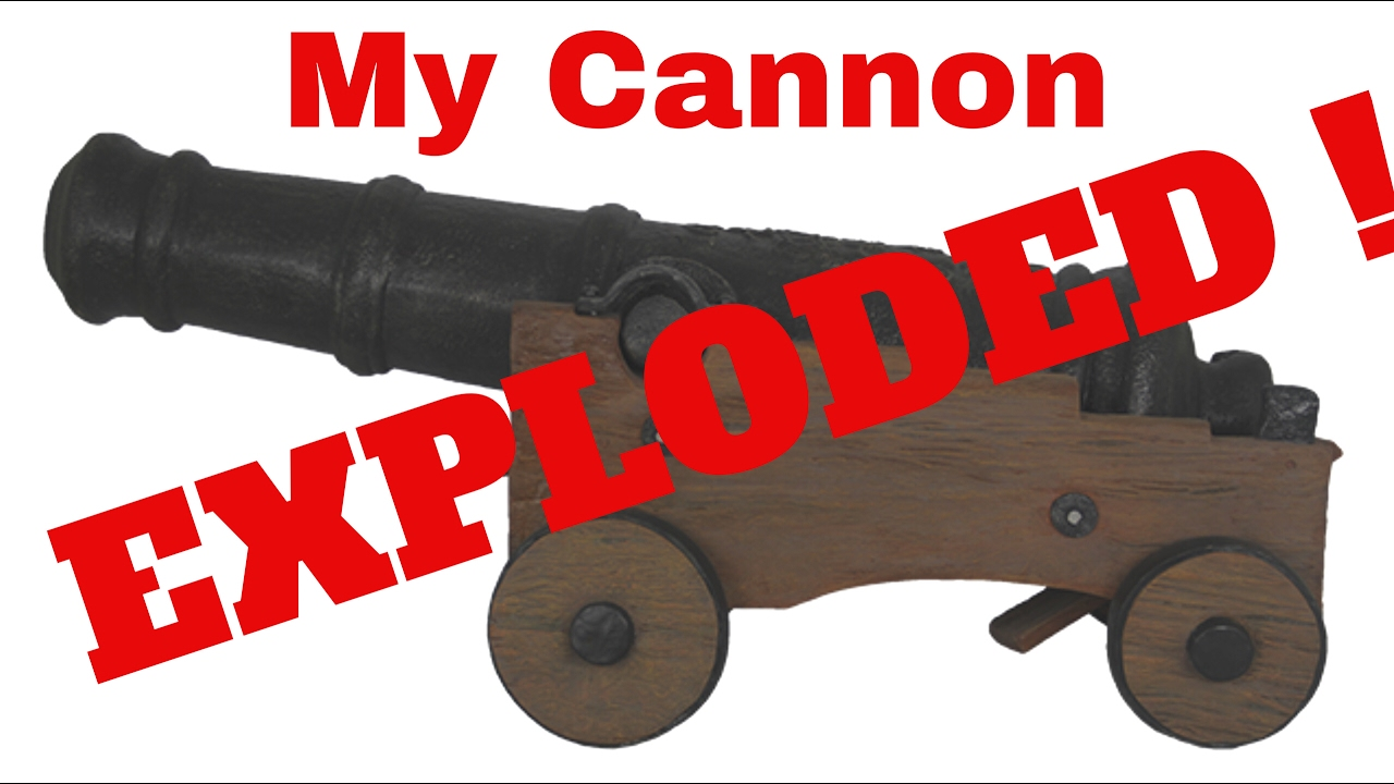 Wooden cannon ( log cannon experiment)