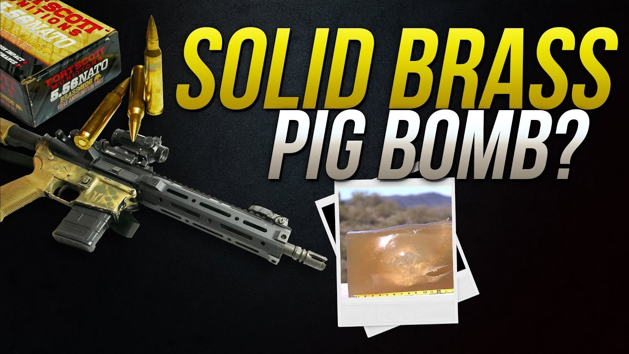 Solid Brass Pig Bomb? 5.56mm Ft Scott 62gr Brass Hog Gel Test