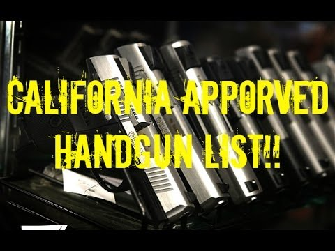 Most pistols now banned in California