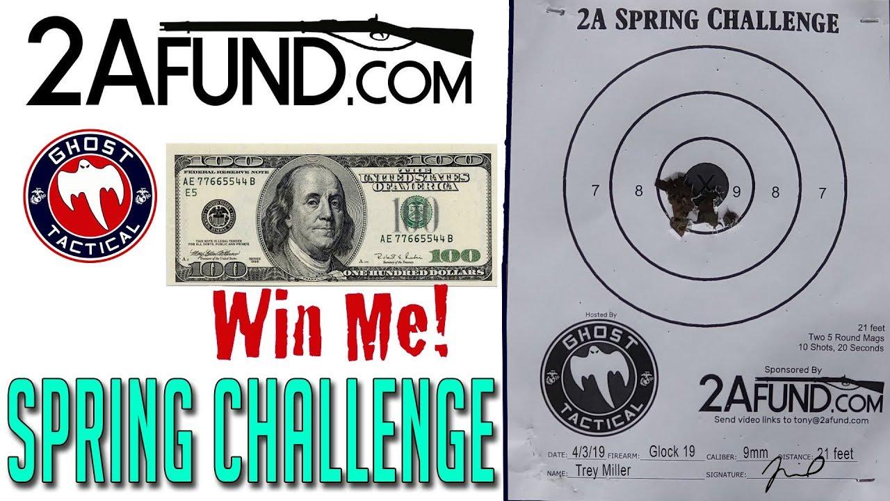 Win $100 CASH:  2Afund.com Spring Challenge