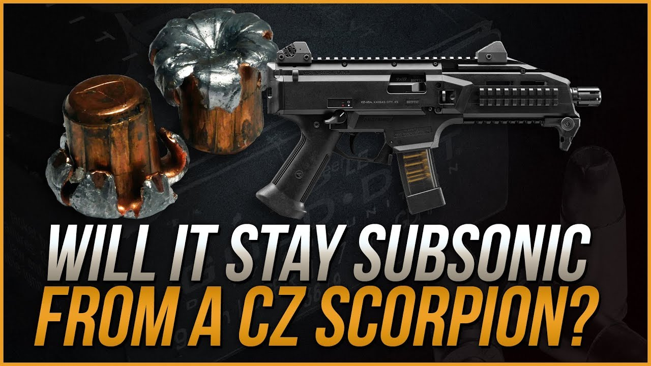 Will It Stay Subsonic From A CZ Scorpion? 9mm 147gr Gold Dot Gel Test