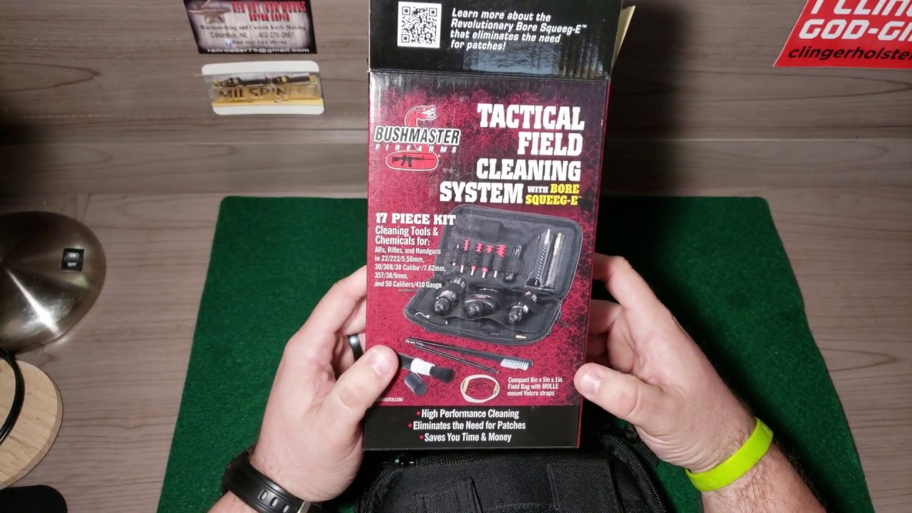 Bushmaster Tactical Field Cleaning System with Bore Squeeg-e Unboxing and Review