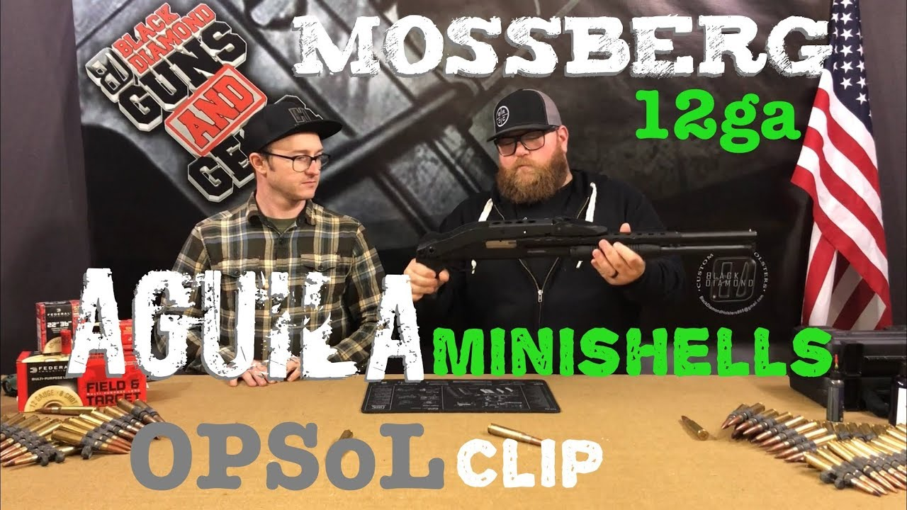Mossberg 12ga, OpSoL Mini Clip, Aguila Minishells
