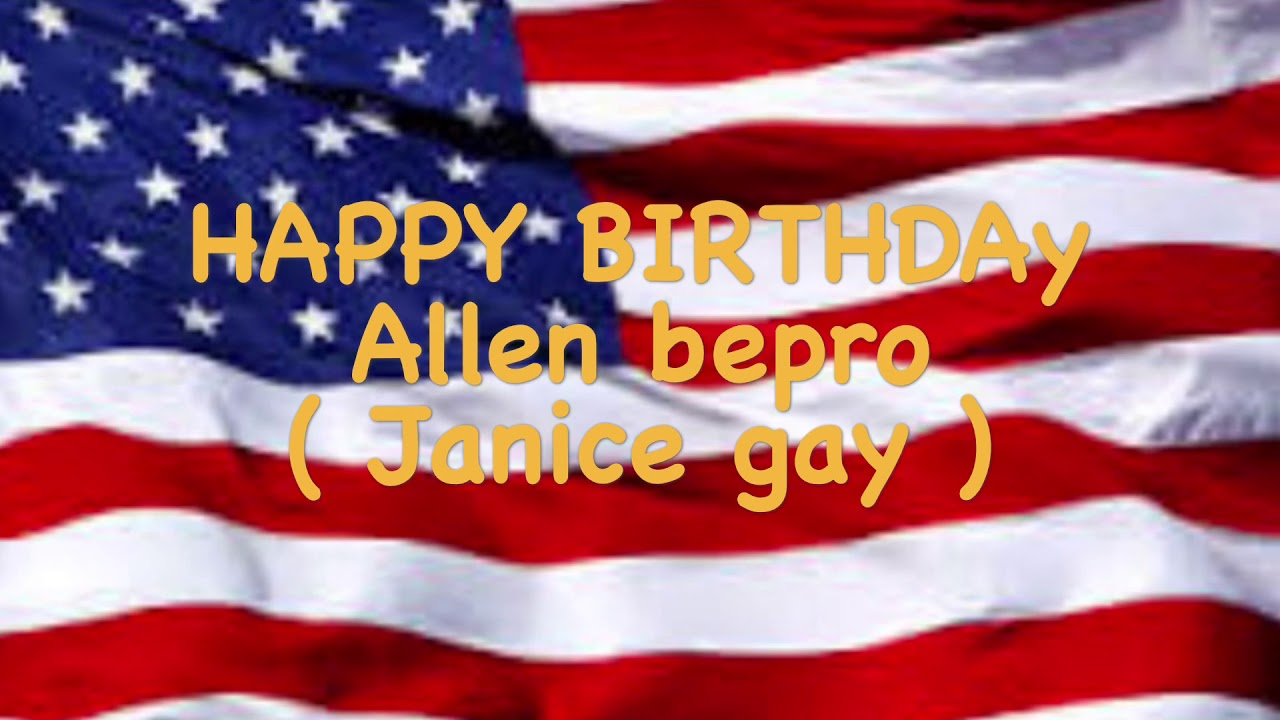 Happy Birthday Allen Bepro
