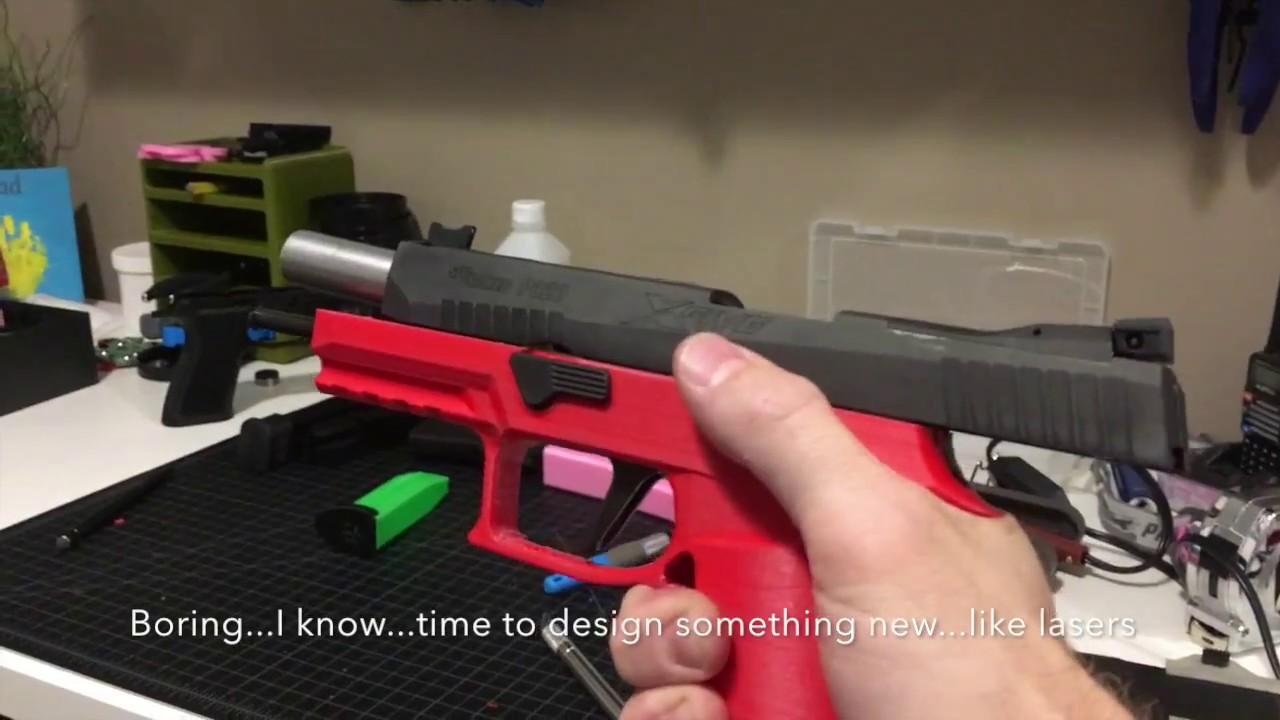 3D Printed SIG P320 Grip Module - Not Drop Safe...