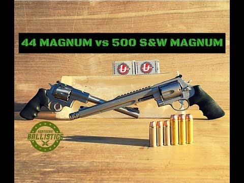 44 Magnum vs 500 S&W Magnum (Ballistics Gel)