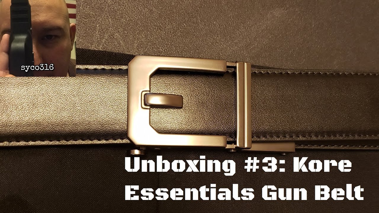 Unboxing #3: Kore Essentials gun belt