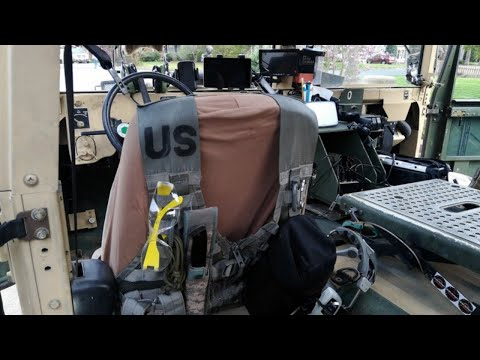 HMMWV Upgrades - Molle seat back panels for pouches and gear