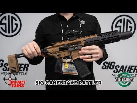 Sig Sauer MCX Rattler Canebrake .300 AAC Blackout - SHOT Show 2019