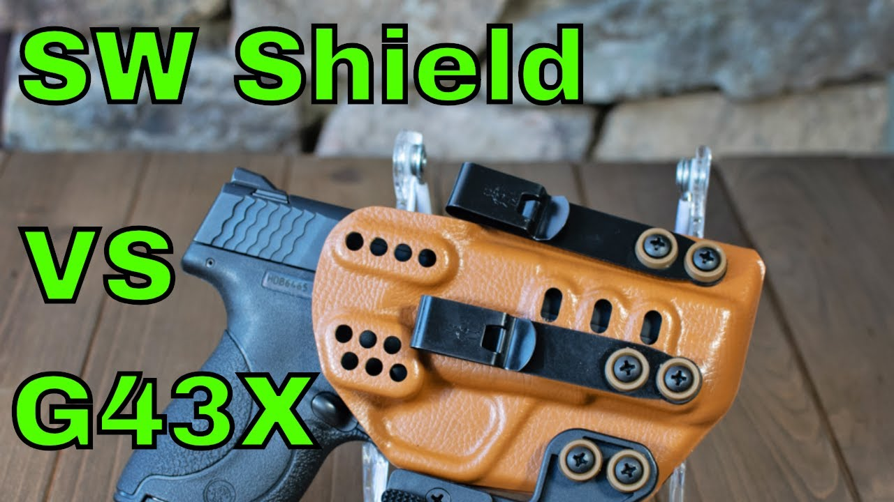 Size and Trigger Comparison: Glock 43X vs SW Shield