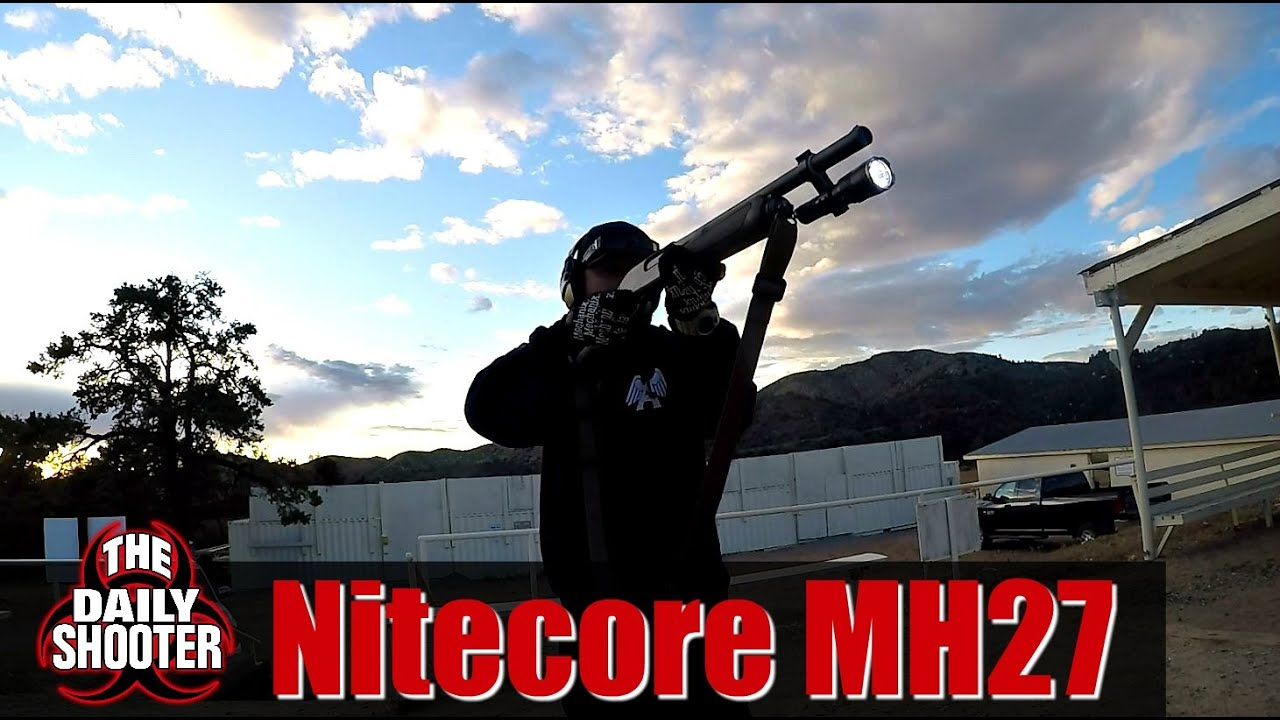 NiteCore MH27 Testing & Review W/ the NiteCore GM04 Shotgun Mount