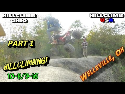 [HILLCLIMB OHIO](PART1) 10-8/9-16 Hillclimbing/Riding/Wrecks Wellsville, Oh