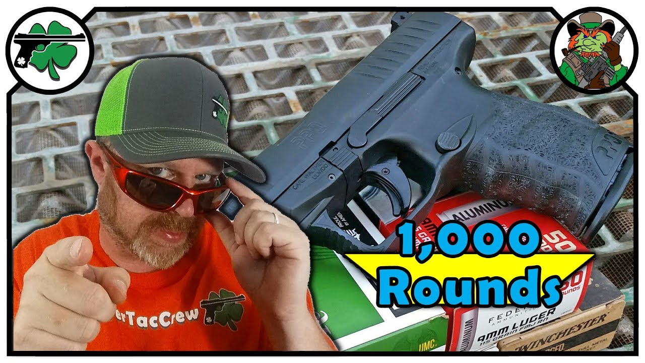 Walther PPQ 9mm Full Size 1,000 Round Review With CHEAP Ammunition
