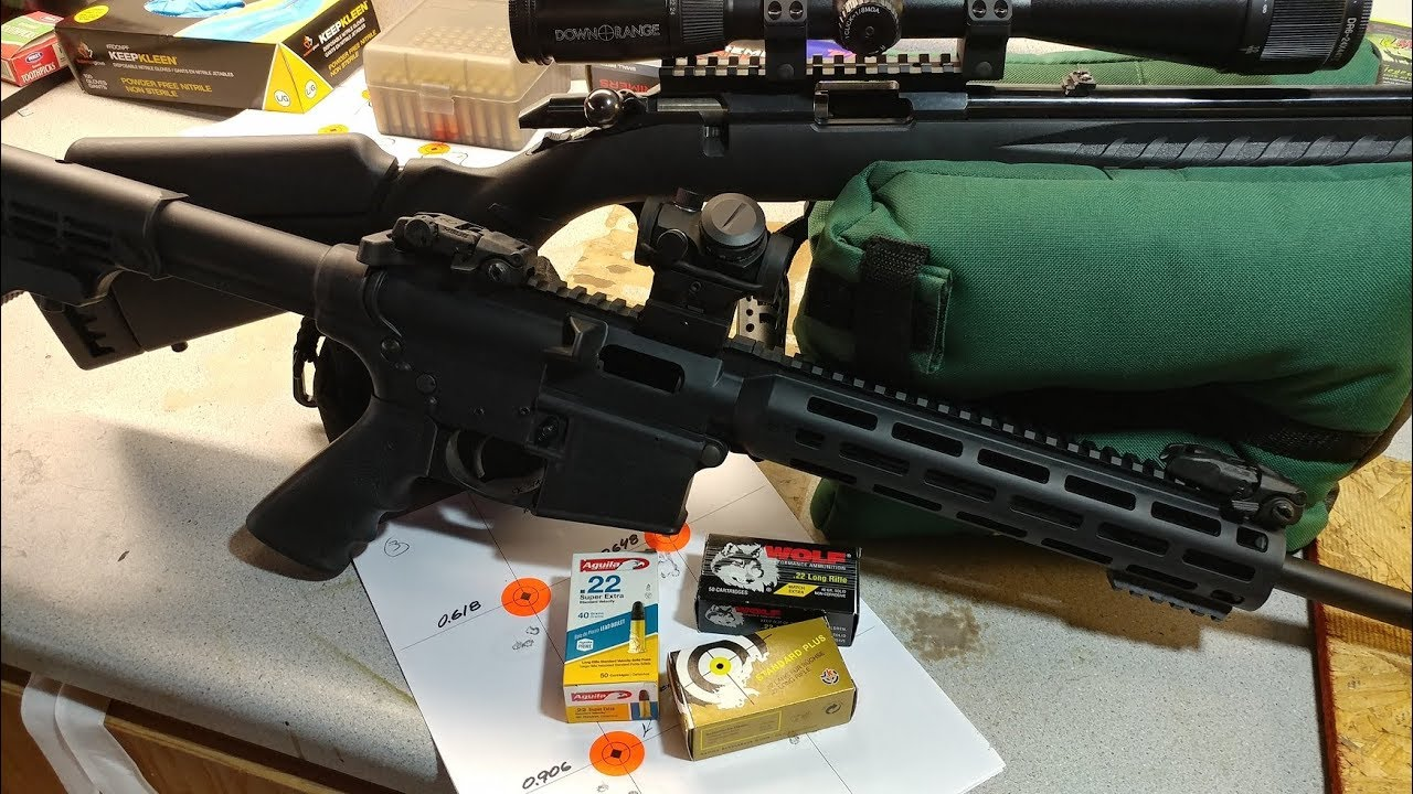 Ruger American Rimfire | S&W MP15-22 Ammo Test