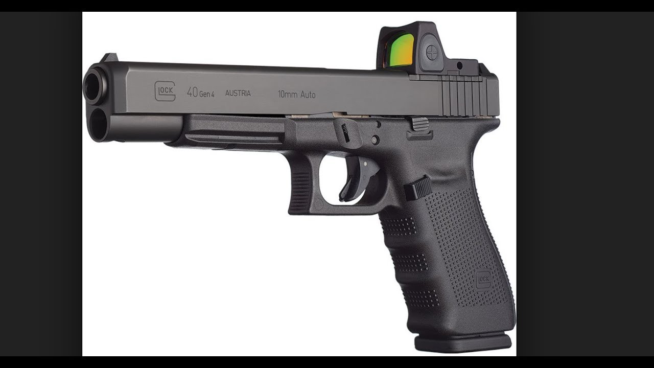 Glock G40 Gen 4 MOS with Trijicon RMR tabletop review
