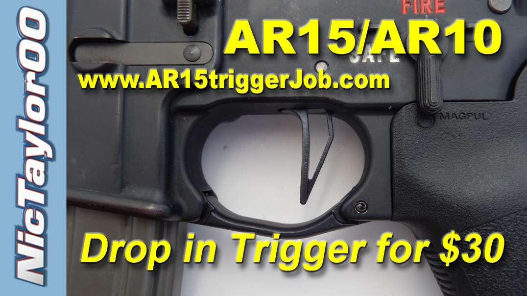 AR15 / AR10 BullMoose Skeletonized Flat Trigger