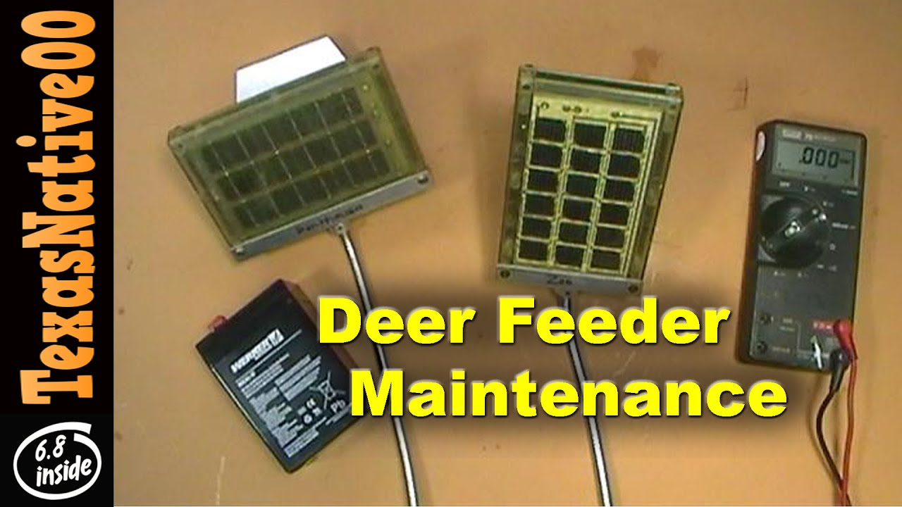 Deer Feeder Maintenance & Trouble Shooting (Batteries & Solar Panels)
