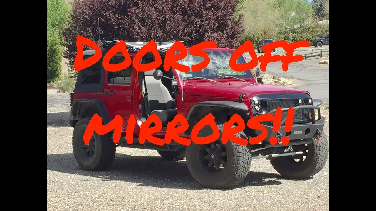 🔴Doors off Jeep Mirrors... Not bad‼️