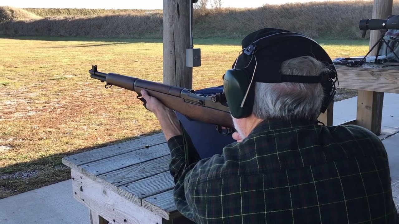 Mike and his M1 Garand at the range