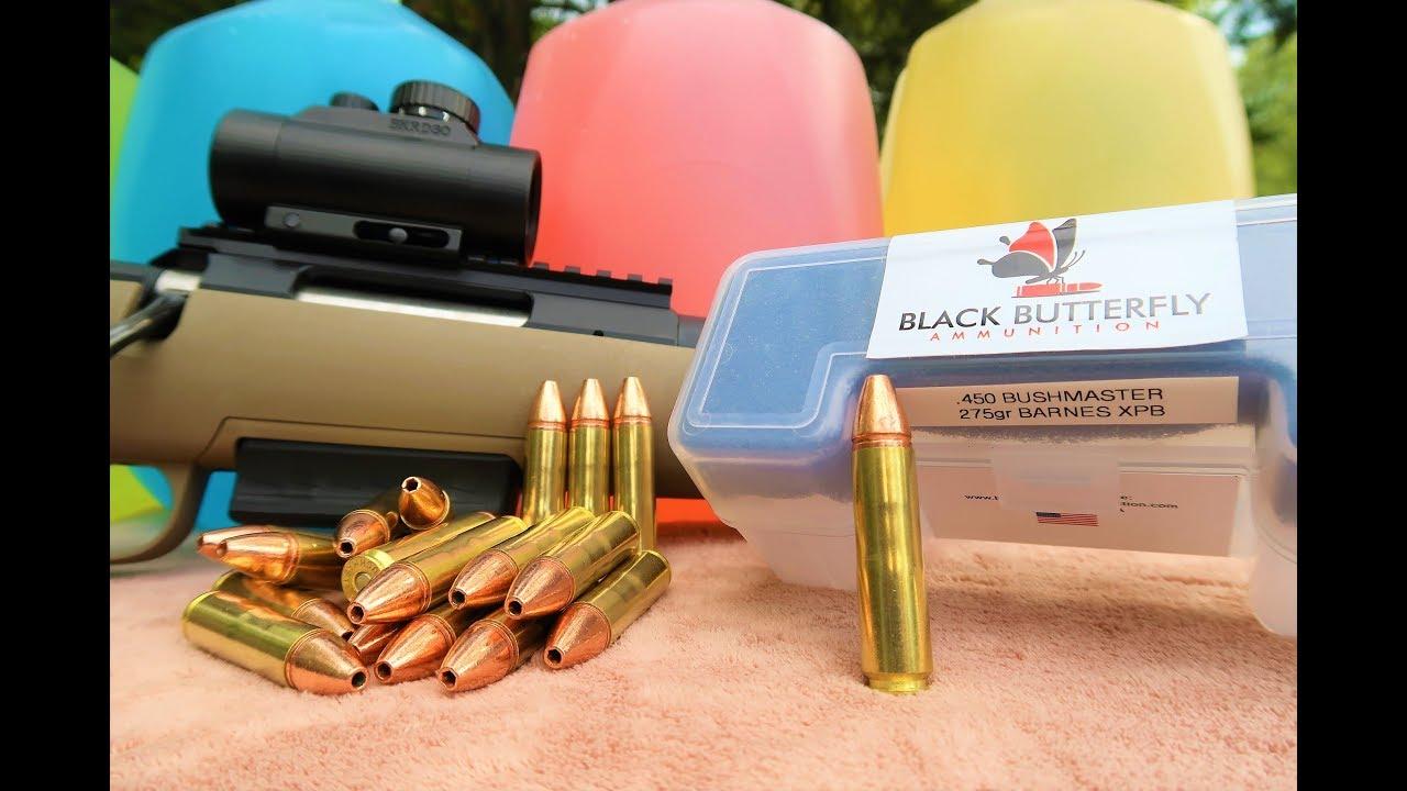 Best 450 Bushmaster Ammo!!! - Black Butterfly ammunition