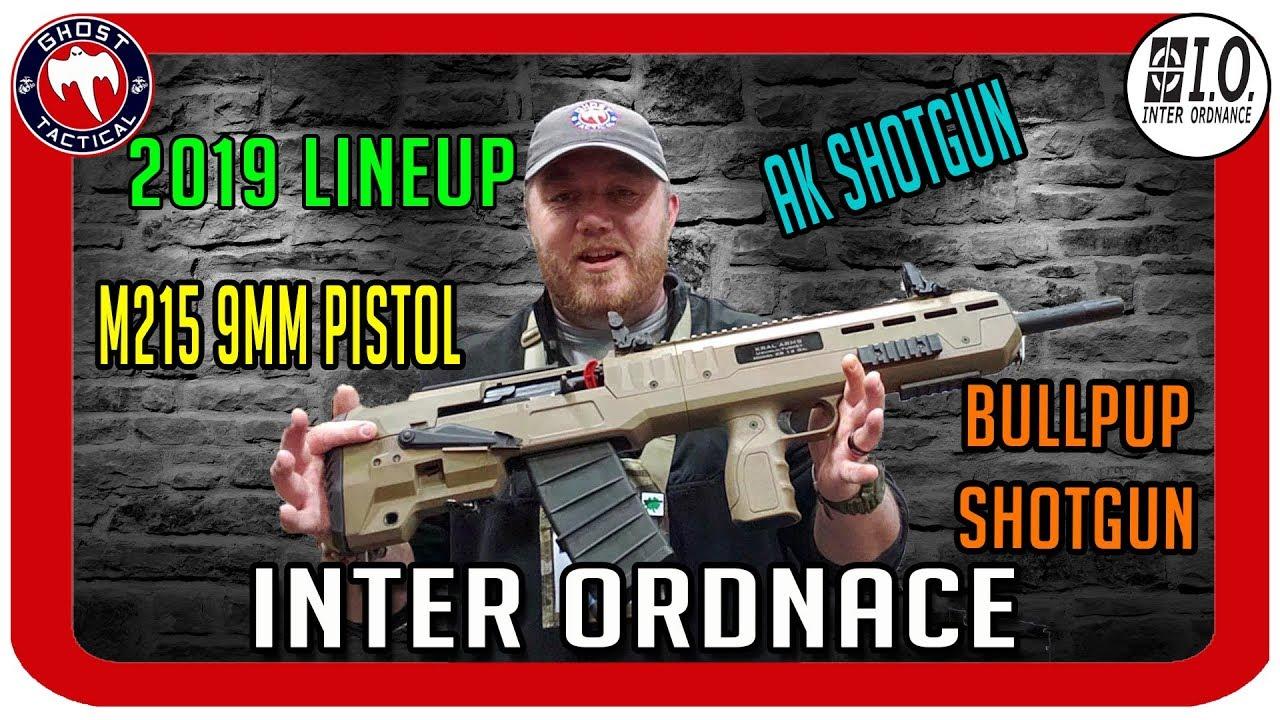 Inter Ordnance 2019 Lineup:  PCC, AR-15, and Shotguns