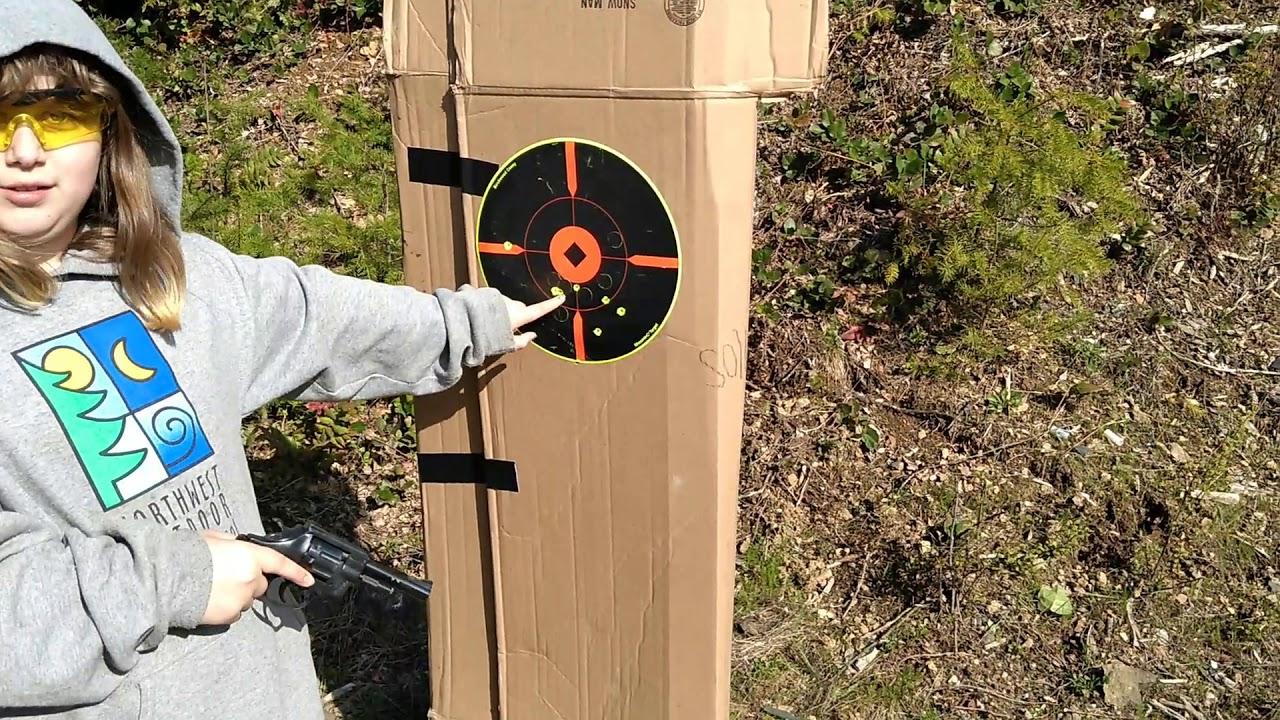 Sierra's First Time Shooting a Handgun