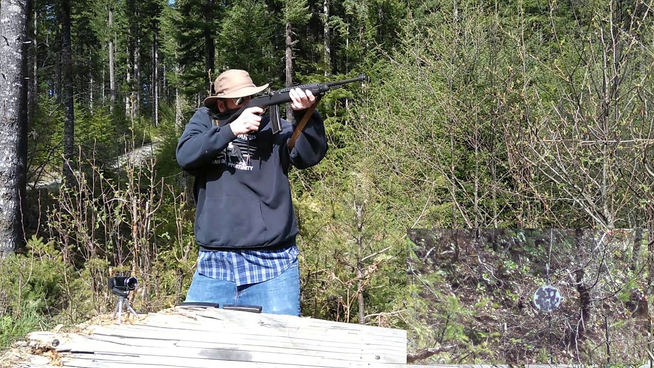 M1 Carbine .30 vs AR500 Steel Target