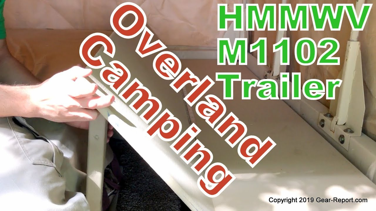 Overland Camping in an M1102 HMMWV Trailer - DIY Bed Mod