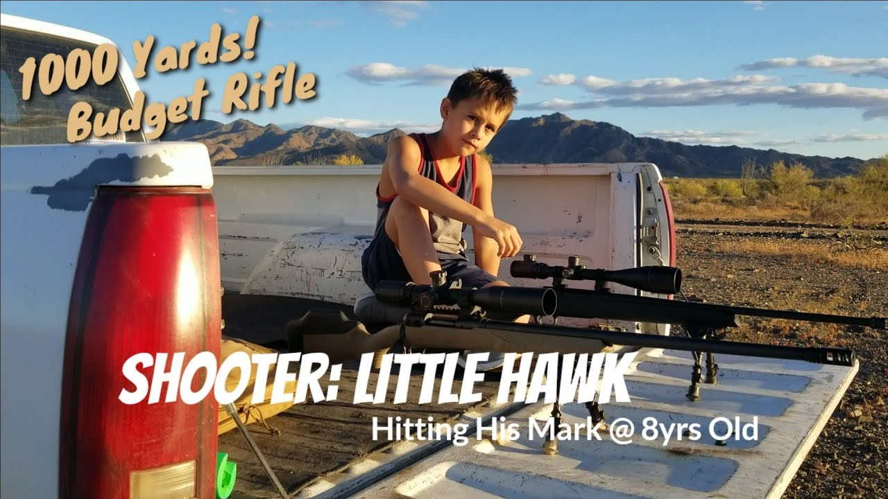 1000 Yards - TC Compass .308 Win - 180gr Nosler BT - Little Hawk Hits His Mark
