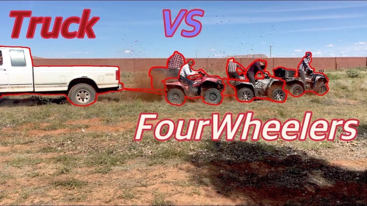 Truck VS Four Wheeler Tug Of War! - The Why Not Guys