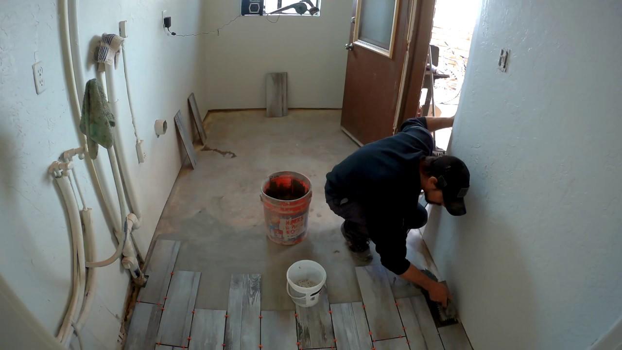 Tile job time lapse video