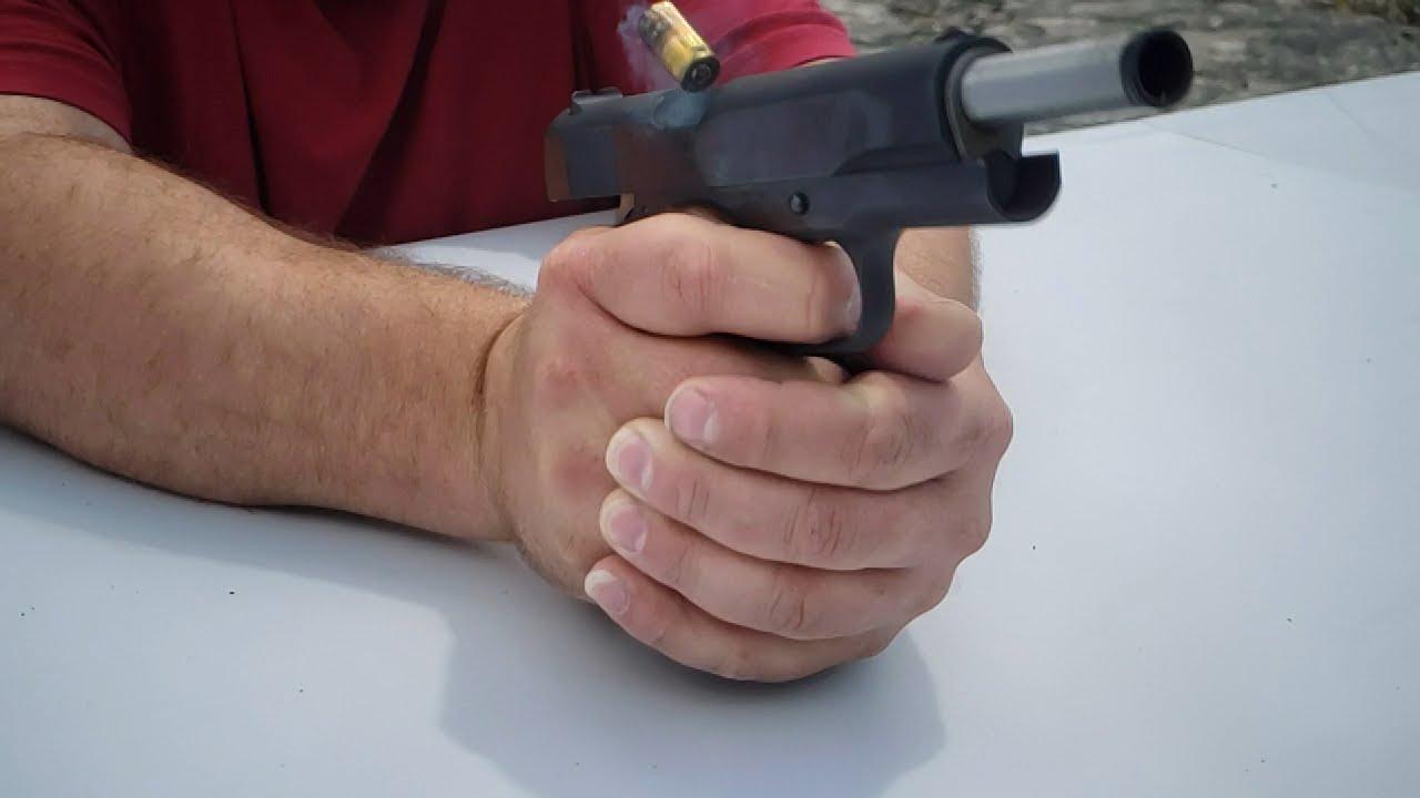 M1911A1 Pistol Firing in Slow-mo 960fps