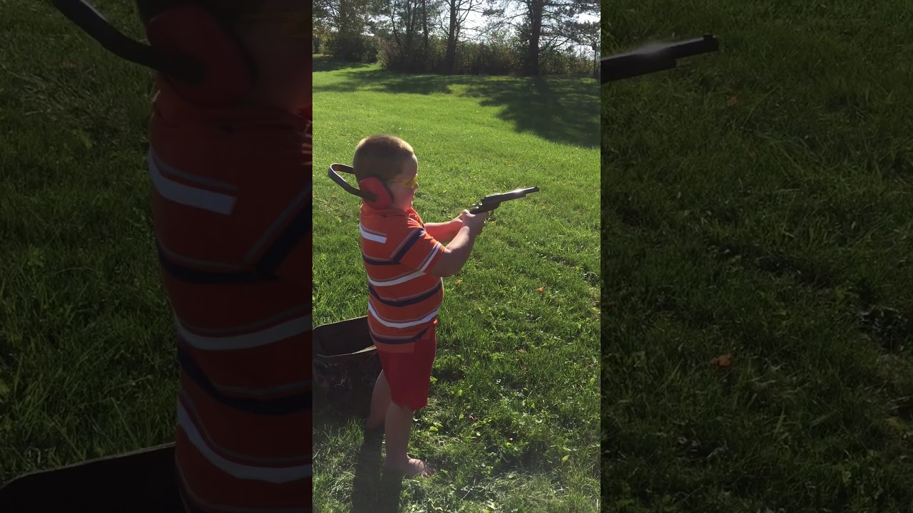 My son shooting the heritage rough rider