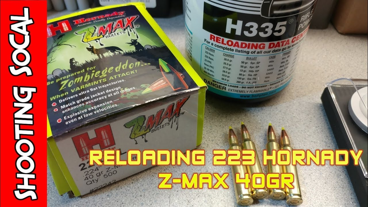 Reloading 223 Hornady Z-Max 40gr | Caldwell Lead Sled DFT 2