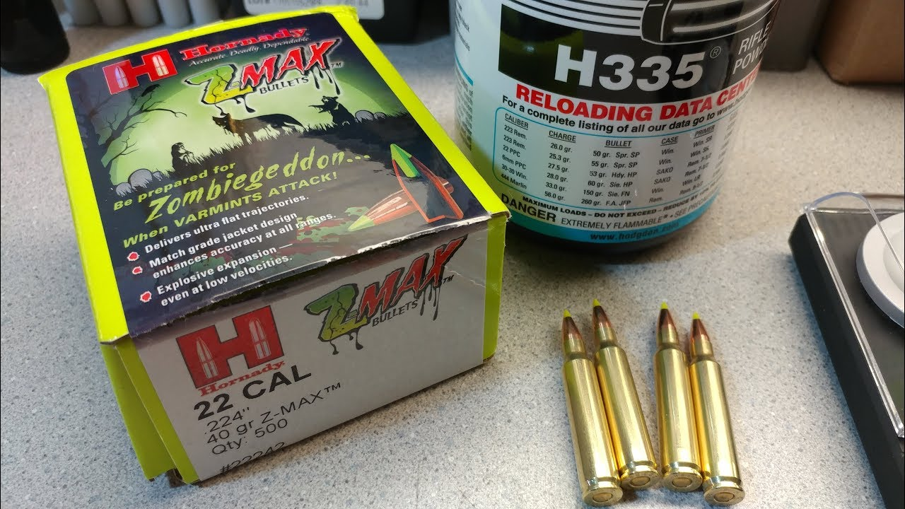 Reloading some Z-MAX 40 grain 223 and thoughts on YouTubes firearms policy