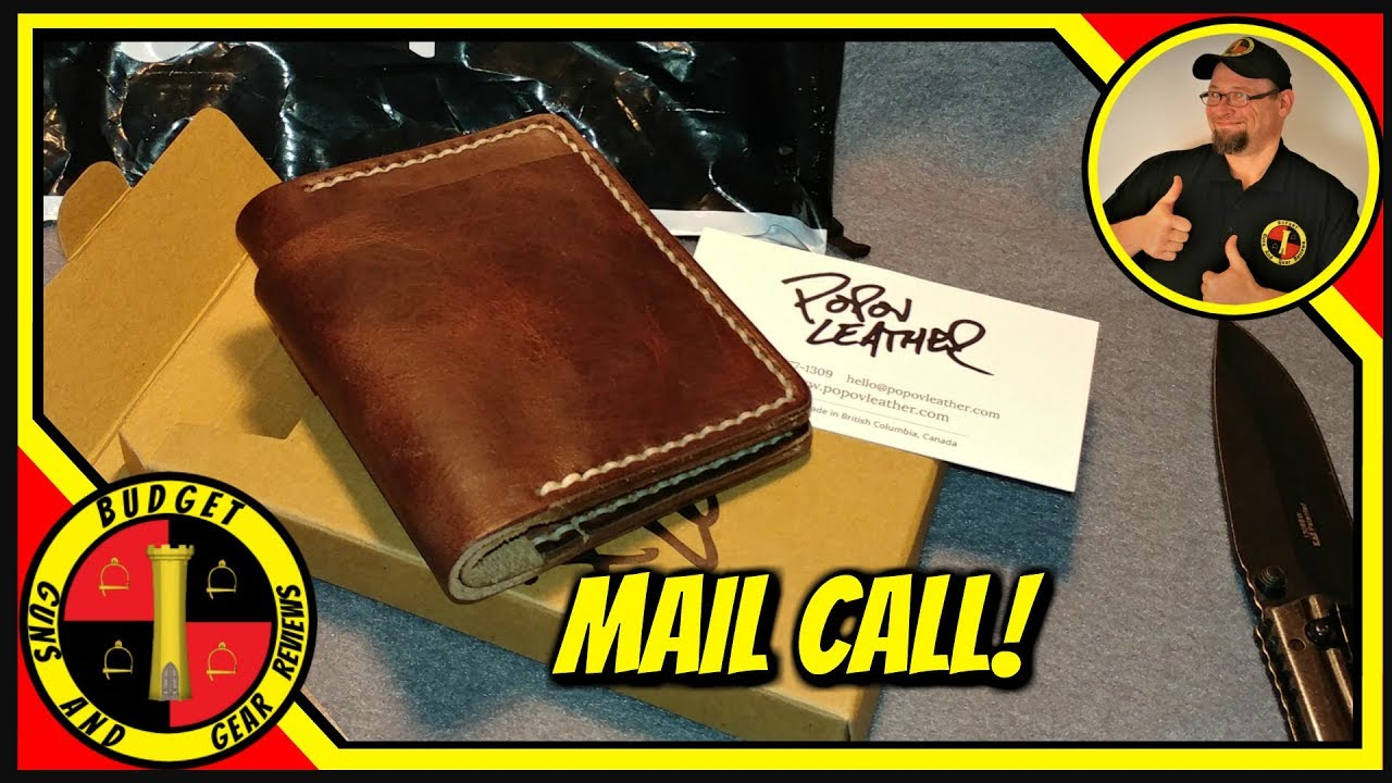 Popov Leather Wallet Review Part One- Unboxing