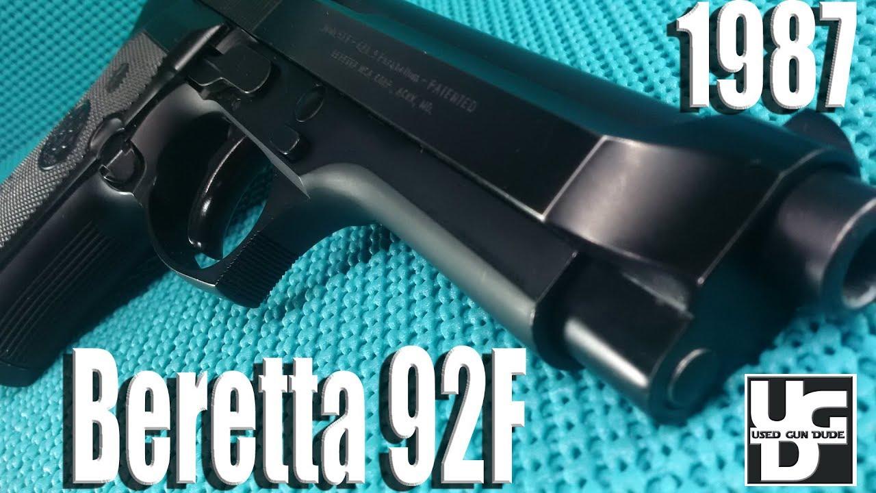 Beretta 92F 1st Look Review Circa 1987, I am living the dream