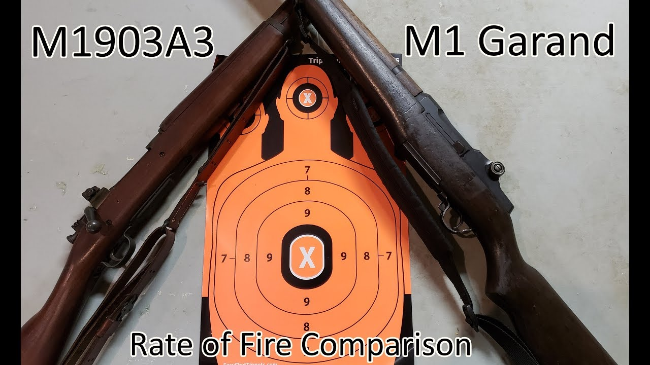 1903A3 vs M1 Garand Rate of Fire Comparison